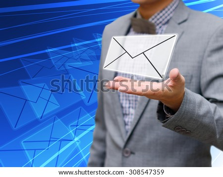 Businessman got email concept