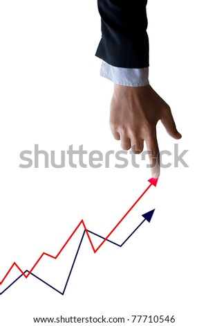 businessman hand and graphs