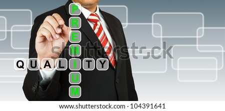 Businessman hand drawing Premium Quality - stock photo