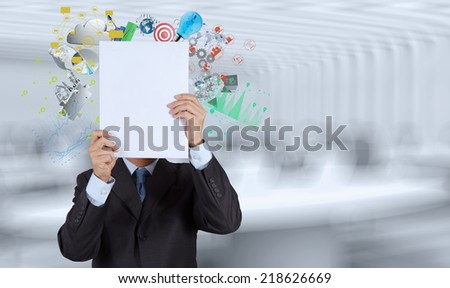 businessman hand show book of success business as concept