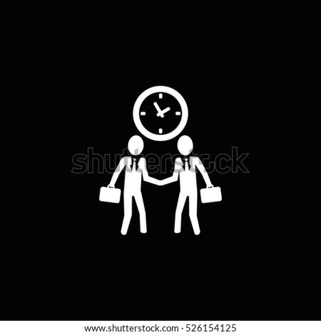 businessman handshake icon, on white background