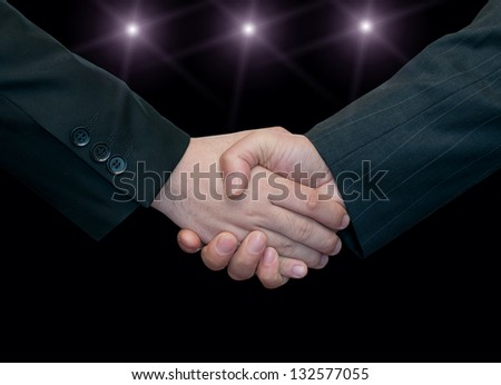 Businessman handshake teamwork partners shaking hands