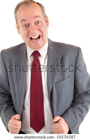 Businessman Happy about Something - stock photo