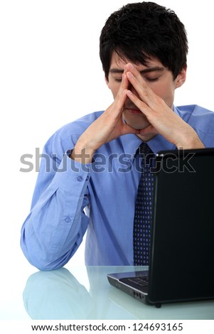 Businessman has lost all of his work - stock photo