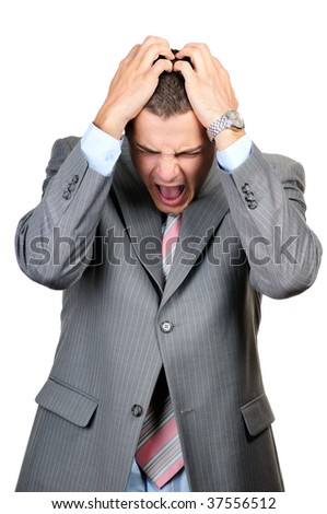 businessman having a hard time