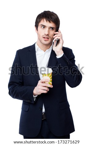 businessman hold coffee cup