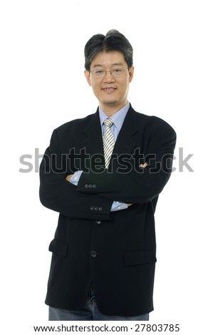 Businessman holding hand out for handshake - stock photo