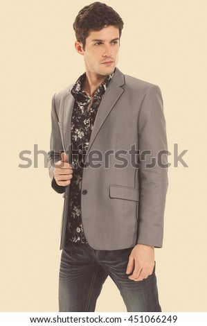 businessman in a suit isolated  - stock photo