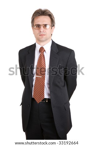 businessman in a white background - stock photo