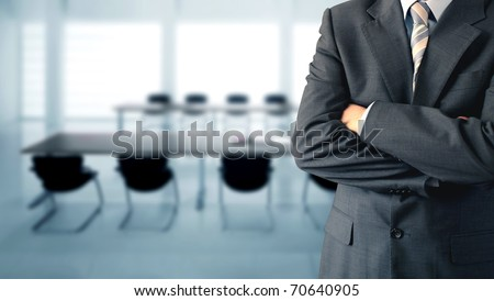 Businessman in conference room - stock photo
