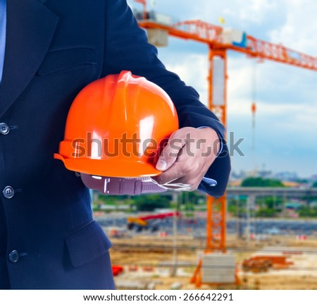 businessman in construction site