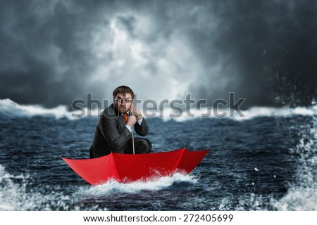 Businessman in crisis - stock photo