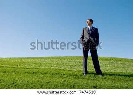 Businessman in dark suit - stock photo