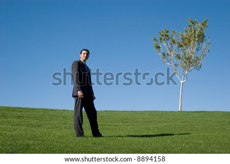 Businessman in dark suit