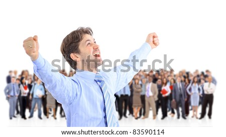 businessman in front - stock photo