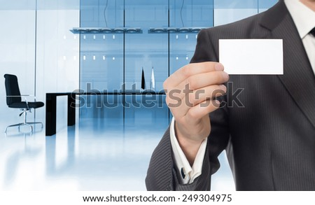 businessman in modern interior of office 3d rendering