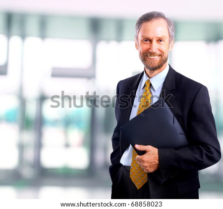businessman in office - stock photo