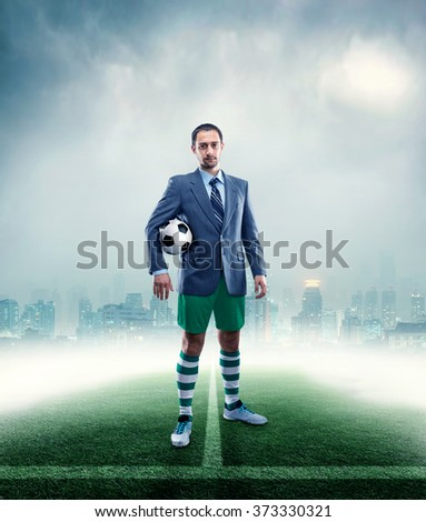 Businessman in sportwear
