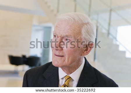 Businessman in thought. - stock photo