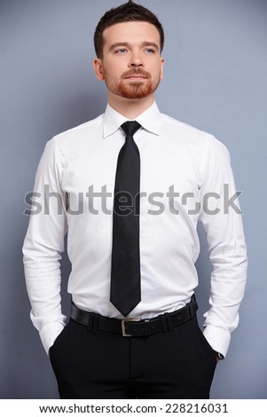 businessman in white shirt  - stock photo