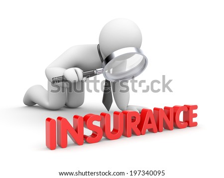 Businessman inspected insurance - stock photo