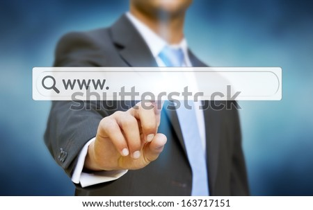 Businessman internet concept
