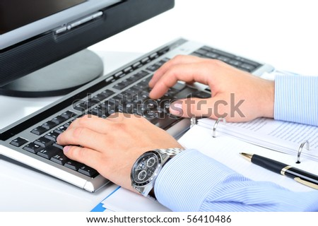 Businessman is changing the contract - stock photo