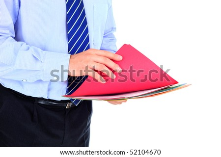 Businessman is checking a project documentation - stock photo