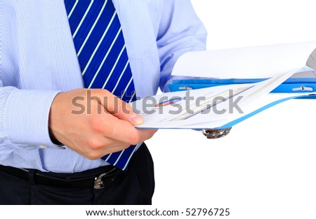 Businessman is checking a project documentation