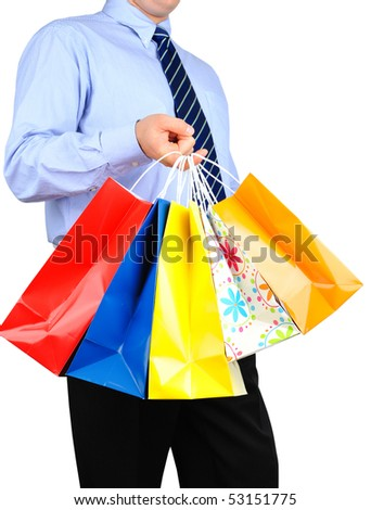 Businessman is shopping - stock photo