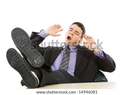 Businessman isolate on white - stock photo