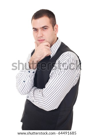 Businessman isolate on white backgorund - stock photo