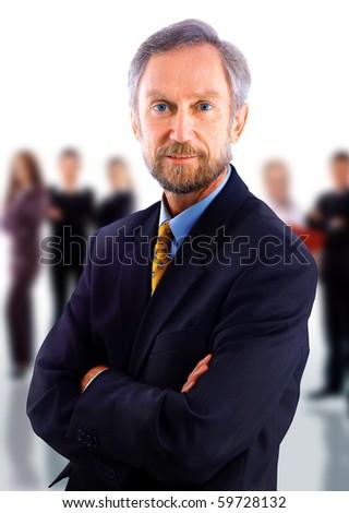 businessman isolated - stock photo