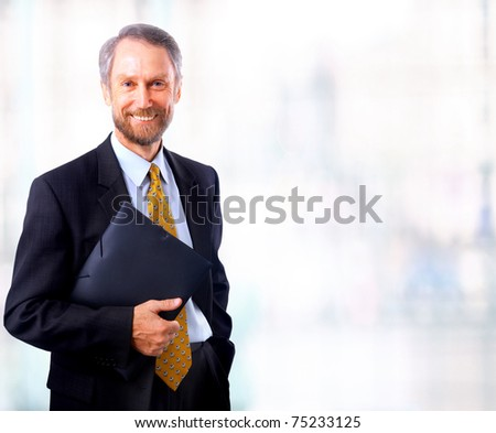 businessman isolated on white bacground - stock photo