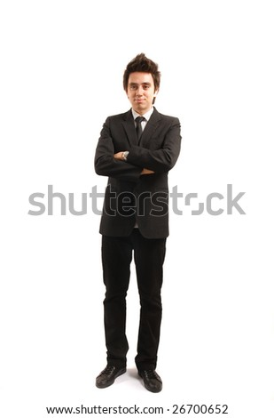 Businessman isolated on white background - stock photo