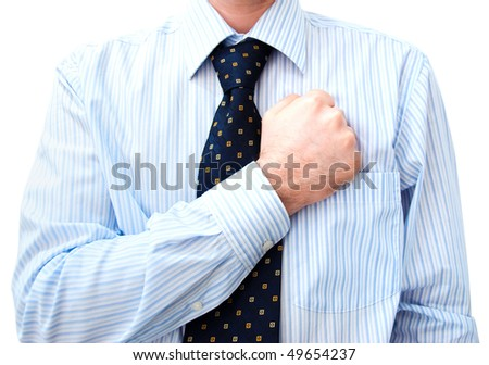 Businessman Lawyer with hand on heart