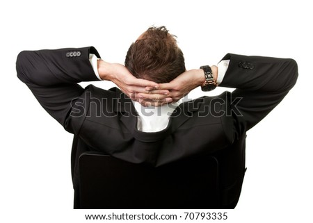 Businessman leaning back in the chair