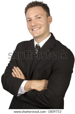 Businessman looking classy in a suit and tie.