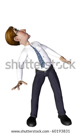 Businessman looking to the sky - stock photo