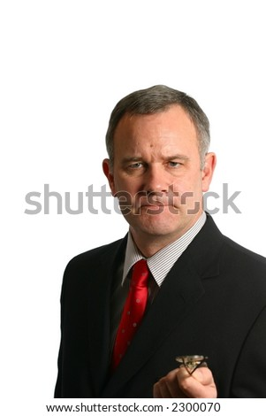 Businessman making a serious point - stock photo
