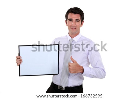 businessman making presentation at meeting - stock photo