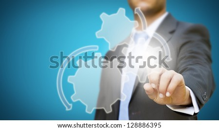 Businessman meeting concept - stock photo