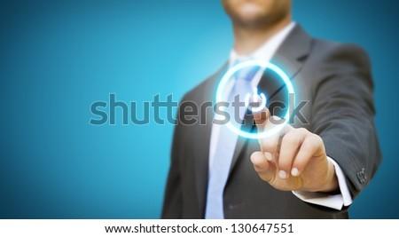 Businessman meeting presentation - stock photo