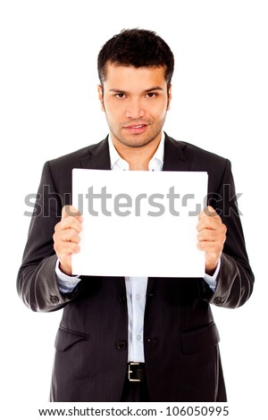 Businessman mugshot - isolated over a white background - stock photo