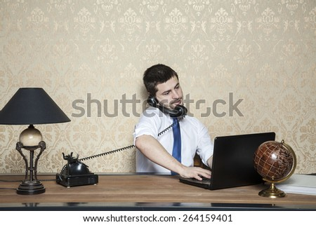 businessman of special tasks - stock photo