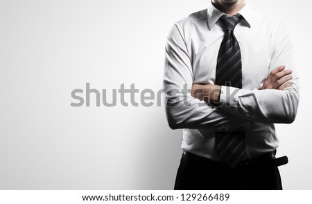 businessman on a white background - stock photo