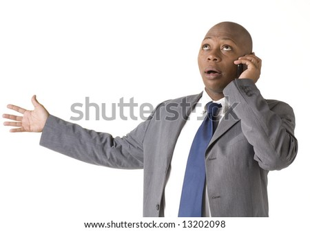 Businessman on cell phone