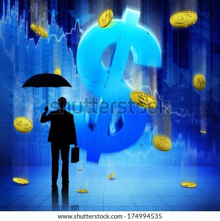 Businessman on Financial Crisis - stock photo