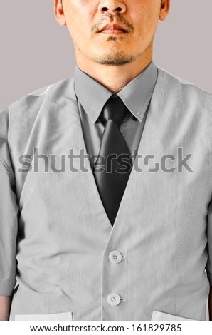 businessman on gray shirt - stock photo