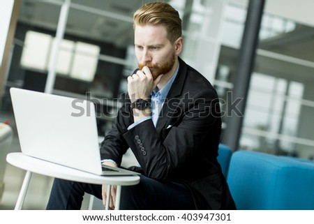 Businessman on the laptop in the office